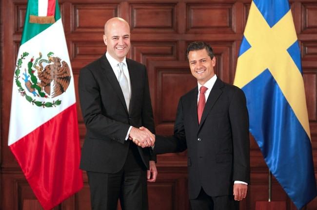 Saludo a Fredrik Reinfeldt, Primer Ministro del Reino de Suecia, durante su Visita de Trabajo