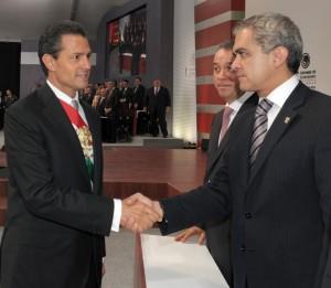 Saludo a Miguel Ángel Mancera, Jefe de Gobierno del Distrito Federal