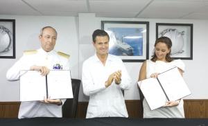 Firma del convenio de colaboración entre la Secretaría de Marina y la Secretaría de Turismo