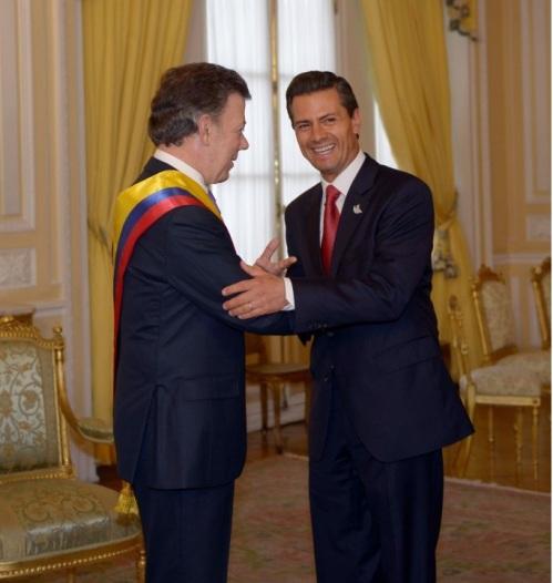 Con Juan Manuel Santos, Presidente de Colombia