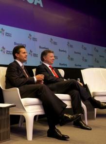Con el Presidente Santos