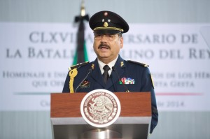 El Jefe del Estado Mayor Presidencial, general Miranda