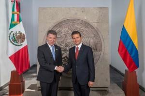 Presidentes Santos y Peña Nieto