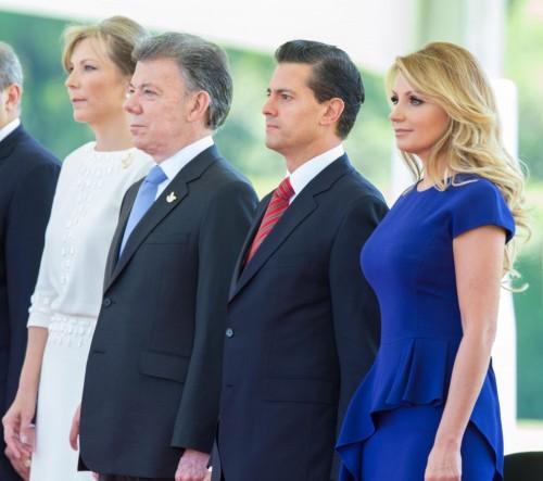 Presidentes y primeras damas de Colombia y de México