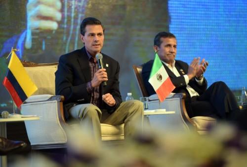 Con el presidente del Perú, Ollanta Humala
