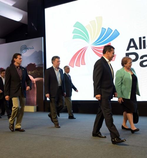Con las presidentes de los países de la Alianza del Pacífico