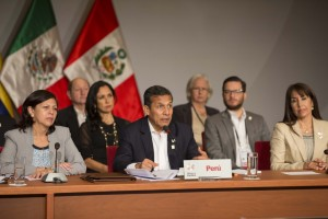 El presidente del Perú, Ollanta Humala